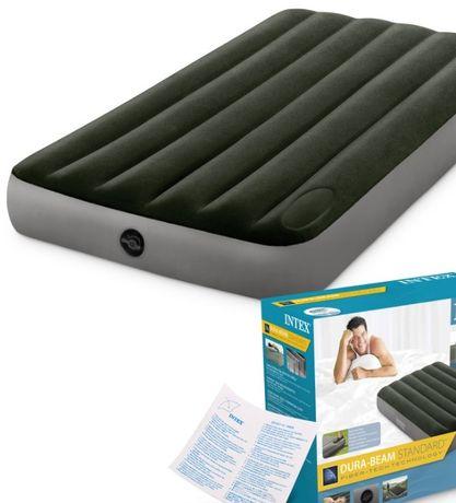 Матрас кровать надувной фирменный встроенный насос 80 см на 190 см