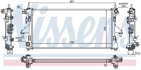 -40% радиатор НОВ за JUMPER/DUCATO/BOXER (06-)