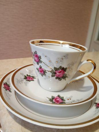 Кофейные чашки,СССР,Рижский фарфор(RPR),новый