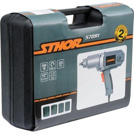 Set Pistol Impact Electric 1/2,800W + 4Tub17-22 Sthor 57091