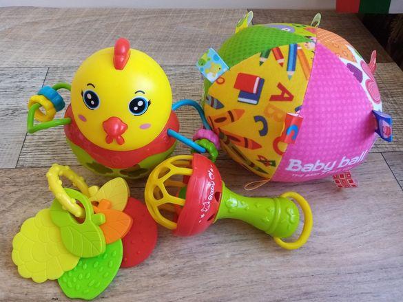 Детски играчки за бебе Лот от бебешки играчки Дрънкалка Гризалка