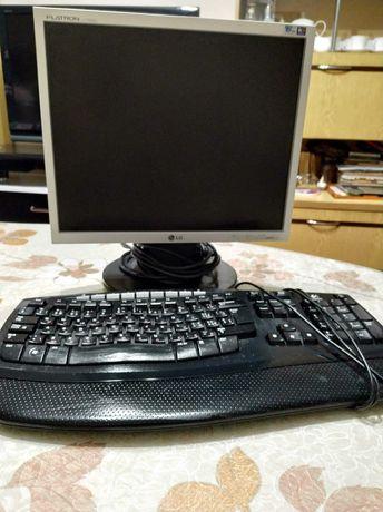 Монитор LG 19+Клавиатура Logitech