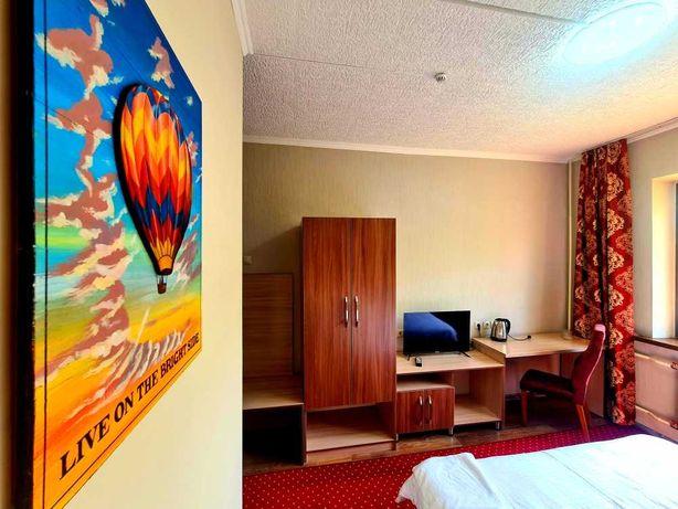 Уютные номера в новой гостинице в центре Алматы (квартира посуточно)