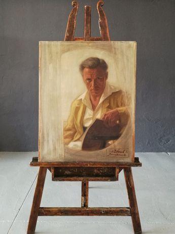 Pictură în ulei autoportret Hans Zöstch