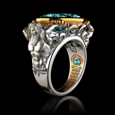 Подарок перстень Аквариус для водного знака зодиака