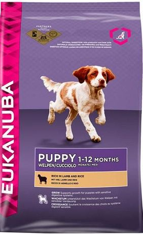 Eukanuba Puppy&Junior -All breeds- АгнеОриз 18кг
