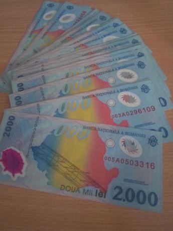 Bancnote de 2000 lei cu eclipsa de soare