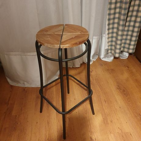 Scaune de bar  80cm lemn și metal (2 buc)