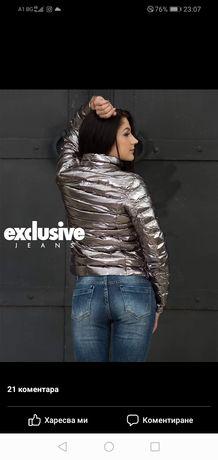 Яке от Exclusive jeans с розов оттенък