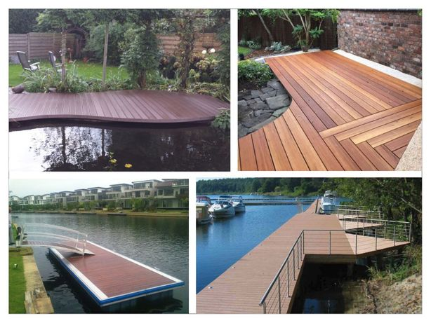 Proiecte la cheie - pontoane si terase cu deck din lemn si wpc