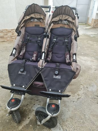 TFK - Бебешка количка за близнаци Twinner Twist Duo Carbon Chocolate