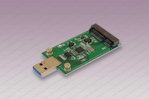 ANIMABG Преобразувател USB 3.0 към PCI-E mSATA