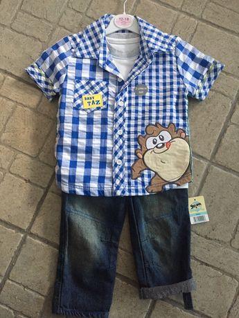 Set Tricou+Cămașă+pantalon 1-2 ani George Disney