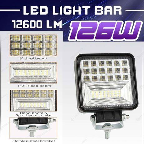 Мощен 126W Лед Фар Диоден Халоген Работна Лампа LED Светлина 12V 12в