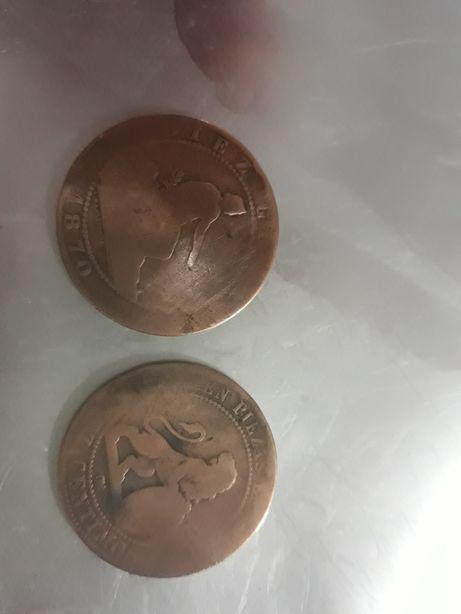 Moneda 1870 diez centimos