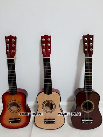 Chitara din lemn pentru copii,55CM,6 corzi