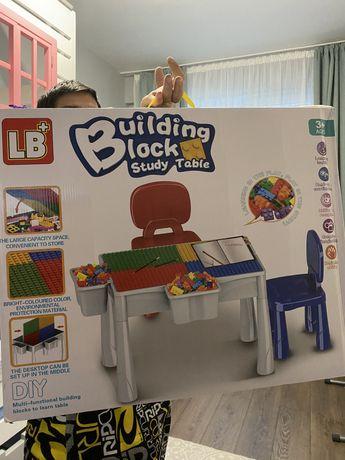 Лего стол+стулья (детский)