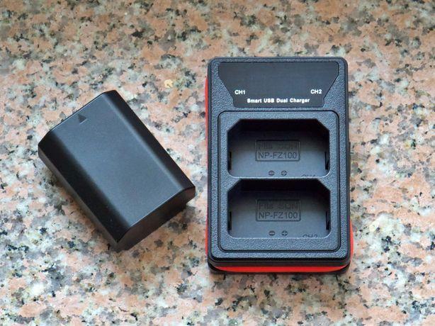 Încărcător NP-FZ100, Dual Battery Pentru Sony Alpha: A9, A9 II, A7 III