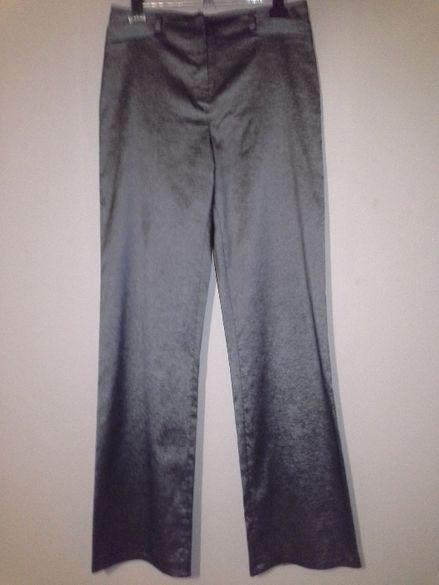 Дамски панталон - сив с лъскав отблясък!
