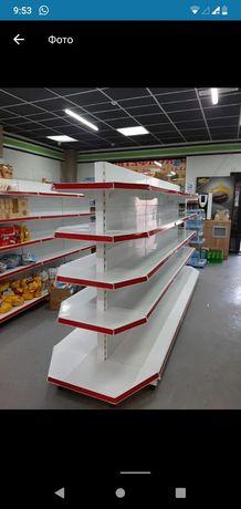 Стеллажи торговые оборудования для магазина витрины полки Алматы
