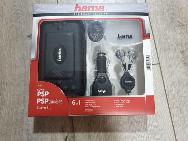 Hama-Sony Set de accesorii cu geanta transport + cablu încărcare auto;