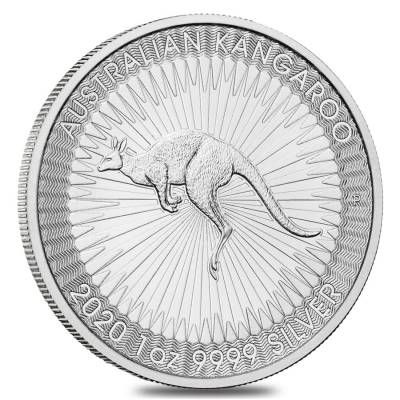 Moneda argint 9999 lingou, Kangaroo Australia 2020 1 oz = 31g