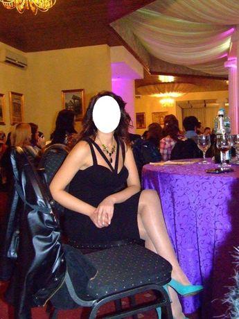 Rochie neagra eleganta seara ocazie