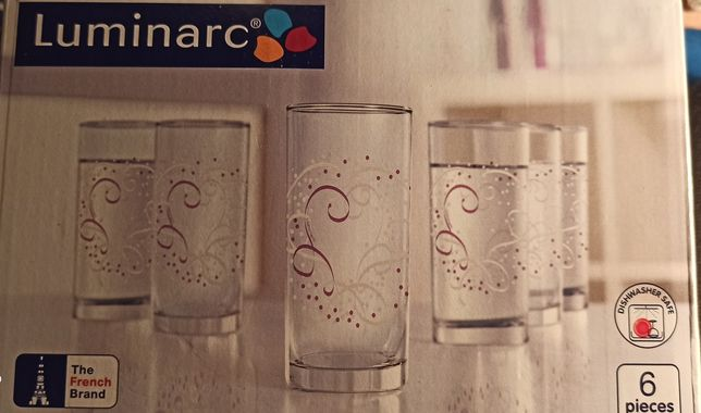 Набор стеклянных стаканов