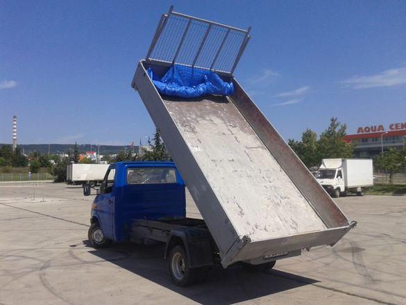 Извозване на строителен и битов отпадък.Услуги със самосвал