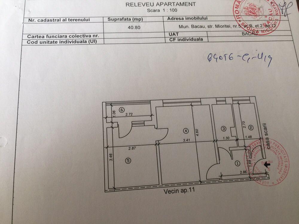 Apartament Str Mioritei nr 5B (langa posta 8/ central)