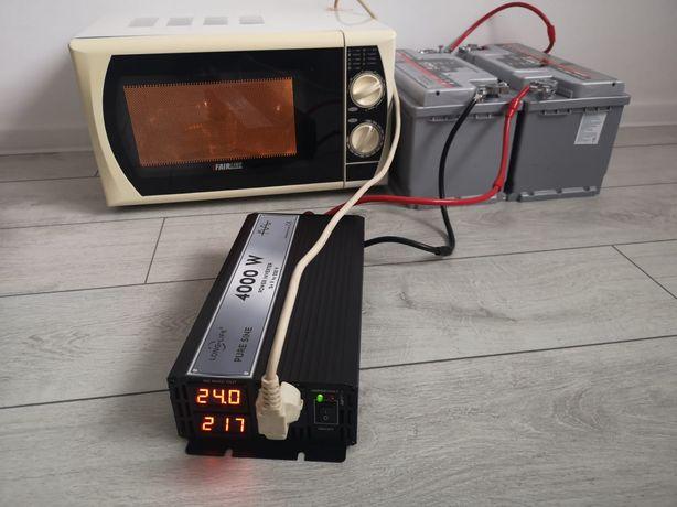 Invertor 24 V - 220 V sinus pur, panouri solare fotovolta, tir, camion
