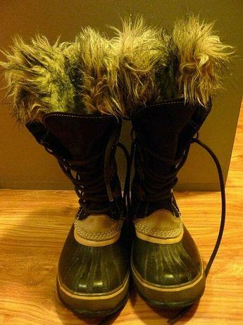 СОРЕЛ / SOREL най - здравите и топли дамски боти за сняг с чорап EU38
