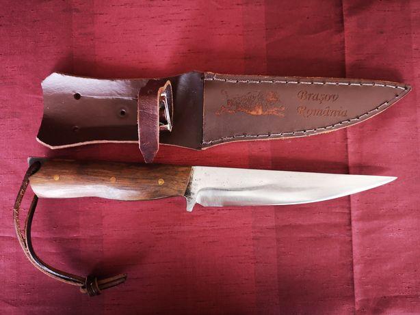 Cutit vânătoare + teaca piele