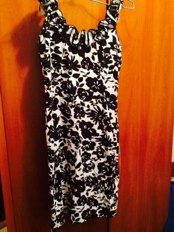 rochie alb&negru