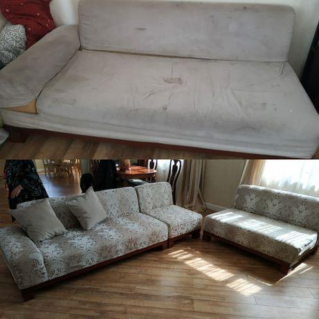Перетяжка ,реставрация , изготовление мягкой, корпусной мебели