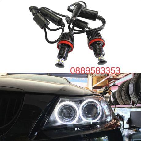 LED Крушки Angel Eyes ЛЕД Ангелски Очи Н8 BMW E70,E71,E60,E61,E90,E91