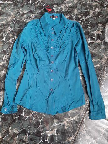 Дамска риза синя