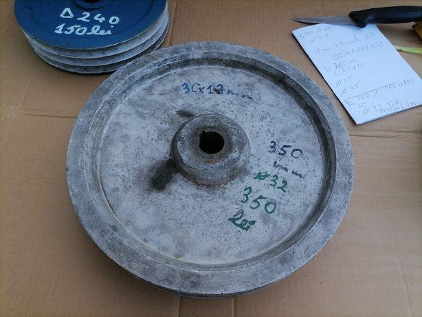 Fulie aluminiu 3 curele 35 cm