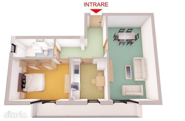 COMISION 0% - Apartamentul ideal - 2 camere - Piata Cibin