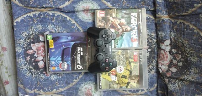 продам джойстик от PS3 и игры