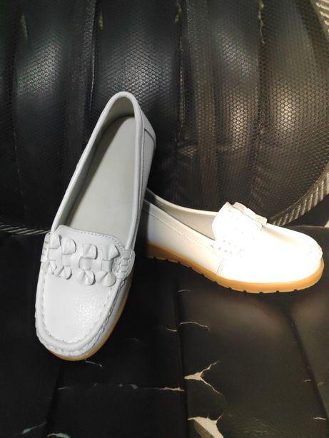 Туфли для девочки белые и черные