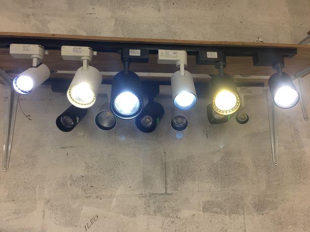 Трековые светильники, споты для дома, бутиков, магазинов залов и т.п