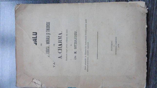 carte veche 1870 n nitzulescu manual de psihologie si morala