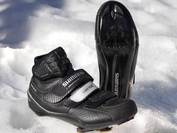 Зимни обувки за колоездене Shimano RW80, N41, стелка 25,8см, шпайкове,
