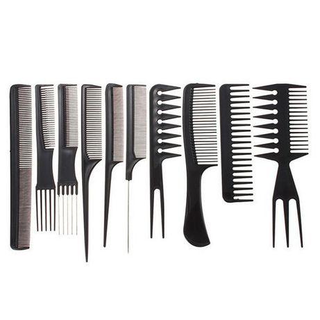 10 броя професионални фризьорски гребени.