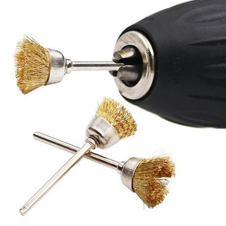 Set 9 piese curățare perie sârmă smirghel mecanica fina reparatii