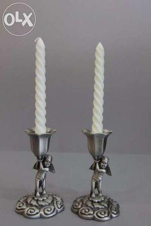 Комплект свещници Ангели, метални 2 броя