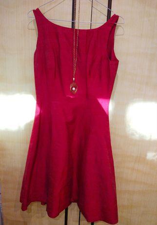 Дамски червени рокли S/M + аксесоар
