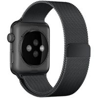 Curea Apple Watch 44mm, Black Milanese Loop