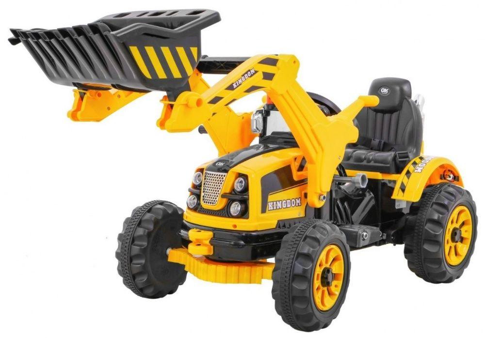 Tractor electric pentru copii (328) Galben Bucuresti - imagine 1